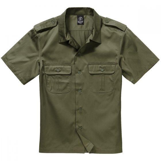 Brandit US Kortærmet Skjorte - Olivenfarvet