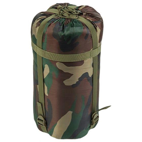 Mil-Tec Mummy-sovepose 400 g - Woodland