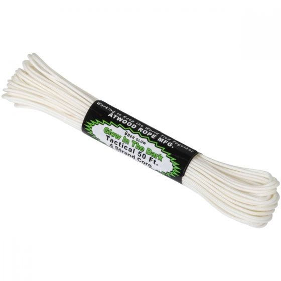 Atwood Rope 275 Glow In The Dark Snor 50 ft - Hvid