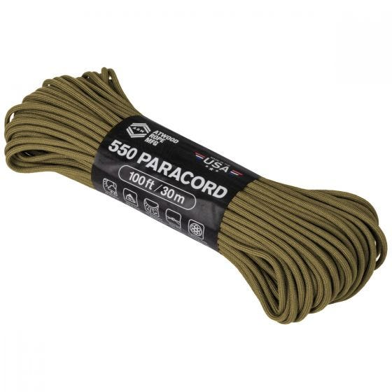 Atwood Rope 550 Parasnor 100 ft - Coyote