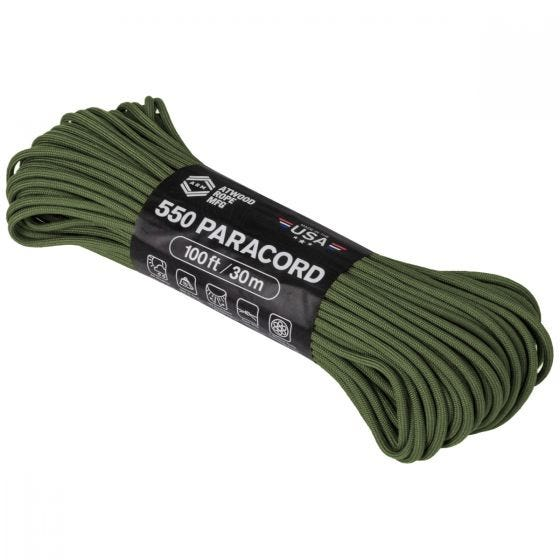 Atwood Rope 550 Parasnor 100 ft - Olive Drab