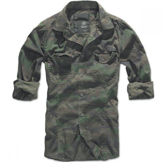 Brandit SlimFit Skjorte - Woodland