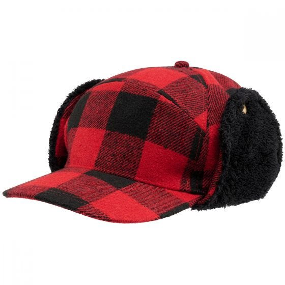 Brandit Lumberjack Vinterkasket - Rød/Sortternet