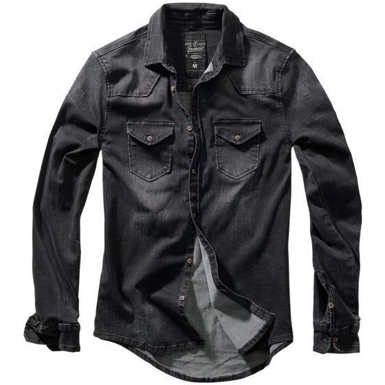 Brandit Riley Denim Skjorte - Sort
