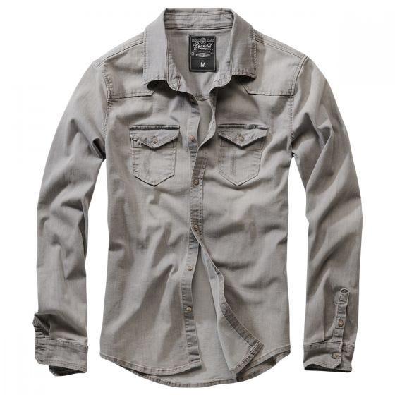 Brandit Riley Denim Skjorte Grey Denim