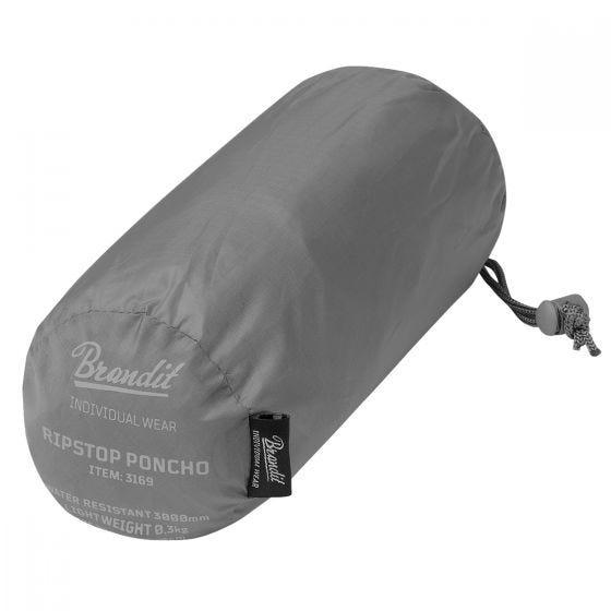 Brandit Poncho Ripstop - Anthracite