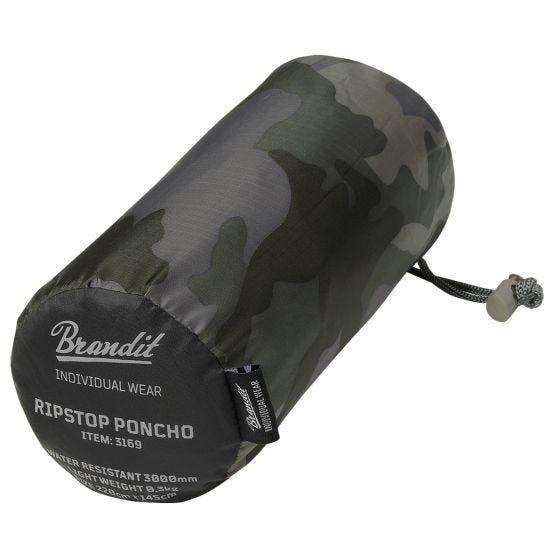 Brandit Poncho Ripstop - Dark Camo