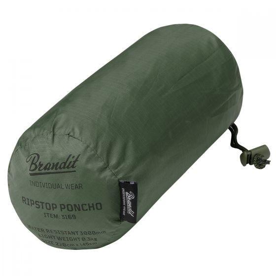 Brandit Poncho Ripstop - Olivenfarvet