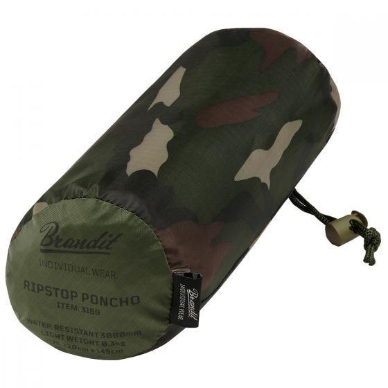 Brandit Poncho Ripstop Woodland