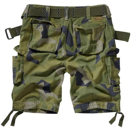 Brandit Savage Vintage Shorts - Swedish Camo M90