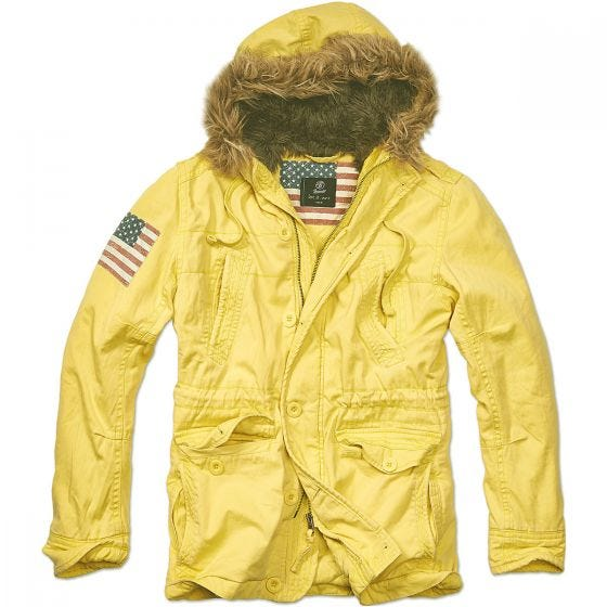 Brandit Vintage Explorer Stars & Stripes Jakke - Yellow