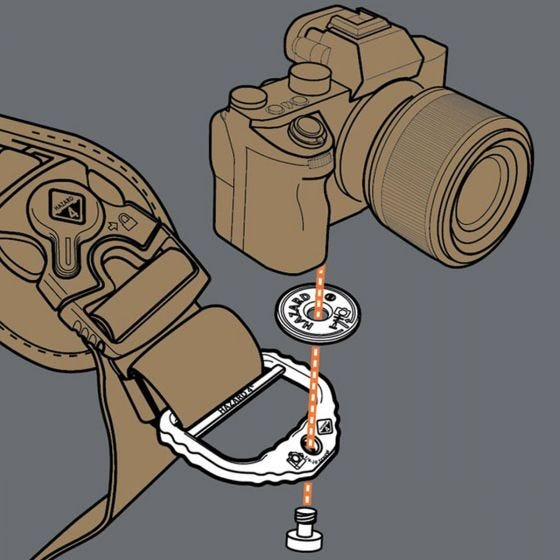 """Hazard 4 D-ring til Foto 2"""" - Sort"""