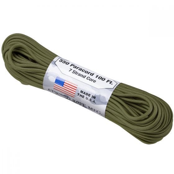Atwood Rope Parasnor 550 Lbs. - Olive Green