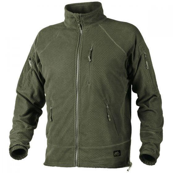 Helikon Alpha Tactical Jakke Grid-fleece - Olive Green