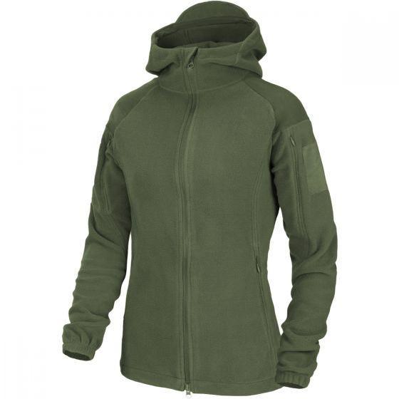 Helikon Cumulus Tung Fleece-jakke Til Kvinder - Taiga Green