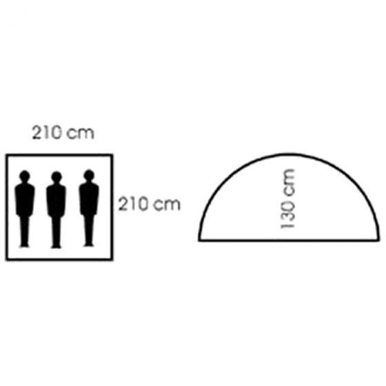 MFH 3 Personers Telt Monodome med Myggenet - OD Green