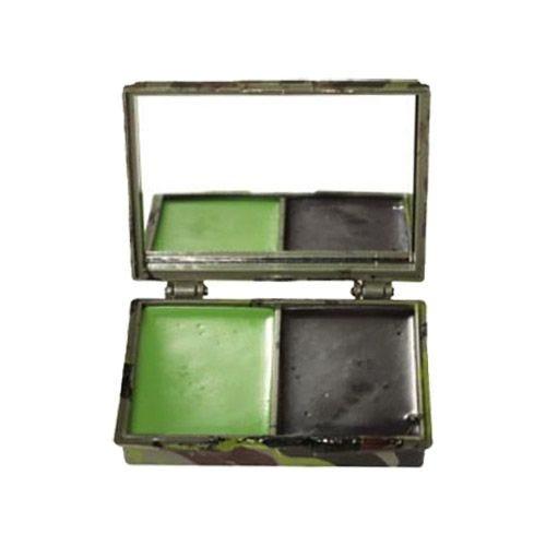 Mil-Tec Camouflage-maling til Ansigtet 2 Farver med Spejl - Woodland