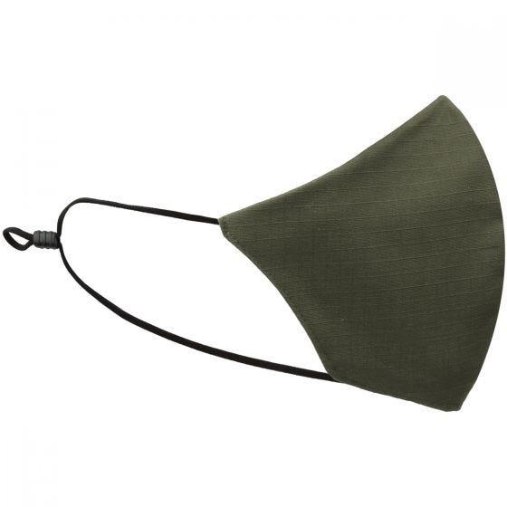 Mil-Tec Mund-/næsedækken I V-form Ripstop - Olivenfarvet