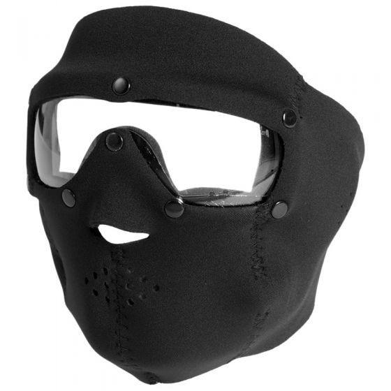 Swiss Eye Neoprene Face Mask Black Clear Lens