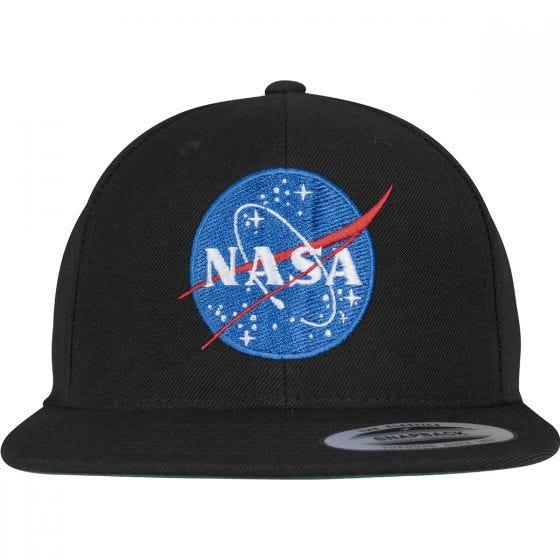 YP NASA Kasket med Trykknap - Sort