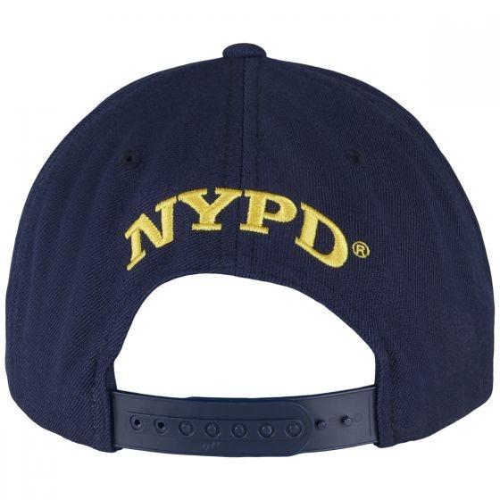 YP NYPD Emblem Kasket med Trykknap - Navy