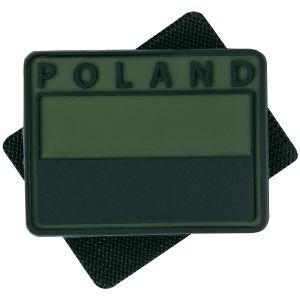 Helikon Polish Subdued Flaglap med Polen-print Sæt med 2 - Olive Green