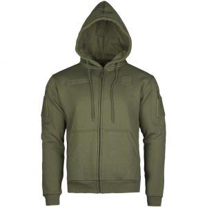Mil-Tec Hættetrøje med Lynlås Taktisk - Ranger Green