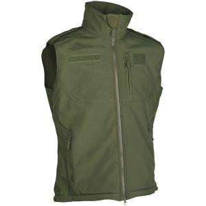 Mil-Tec Soft-shell Vest - Olivenfarvet
