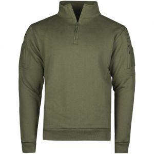 Mil-Tec Sweatshirt med Lynlås Taktisk - Ranger Green