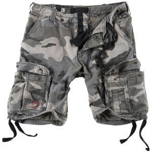 Surplus Airborne Vintage Shorts - Washed Night Camo