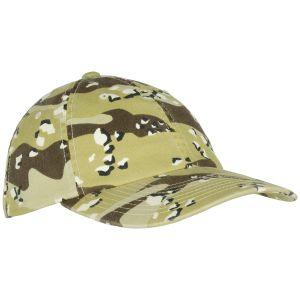 YP Low Profile Camo Washed Cap 6 Colour Desert