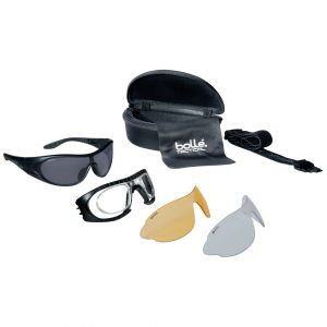Bolle Tactical Raider Ballistic Spectacles - Clear + Smoke + Yellow Lens / Black Frame
