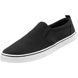 Brandit Southampton Slip-on Sneaker - Sort/Hvid