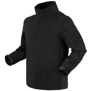 Condor Patrol Softshell-jakke med 1/4 Lynlås - Sort