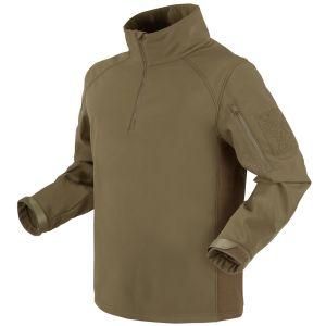 Condor Patrol Softshell-jakke med 1/4 Lynlås - Tan
