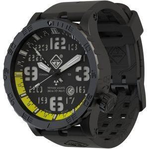 Hazard 4 Heavy Water Diver Titanium Tritium-ur - Nightwatch Yellow GMT Green/Yellow