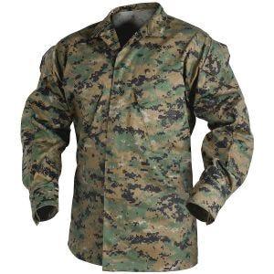 Helikon USMC Skjorte Polybomuldstwill - Digital Woodland