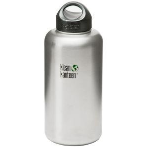 Klean Kanteen Wide Mouth Loop Cap Flaske 1893 ml - Brushed Stainless