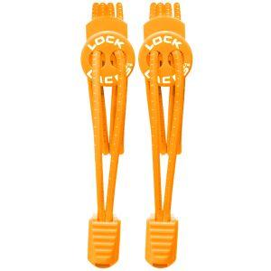 Lock Laces Elastic No Tie Snørebånd - Orange