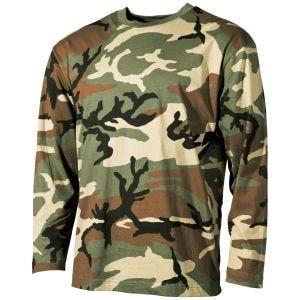 MFH Langærmet T-shirt - Woodland