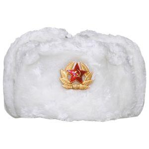 MFH Russian Vinterkasket med Skilt - Hvid