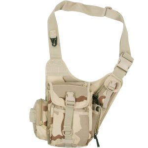 MFH Combat Skuldertaske - 3-Farvet Ørken