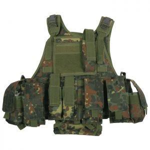 MFH Ranger MOLLE Taktisk Vest - Flecktarn