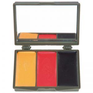 Mil-Tec BW Army Camo Ansigtsmaling 3 Farver med Spejl