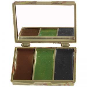 Mil-Tec Camouflage-maling til Ansigtet 3 Farver med Spejl - Woodland