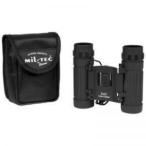 Mil-Tec Foldbar Kikkert 8x21 - Sort