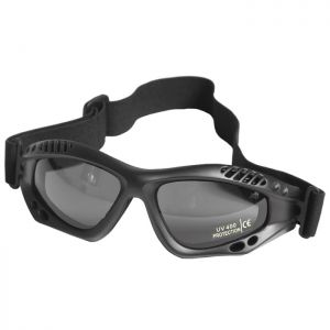 Mil-Tec Commando Goggles Air Pro Smoke Black
