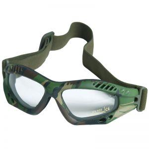 Mil-Tec Commando Goggles Air Pro Clear Woodland