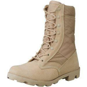 Mil-Tec US Kampstøvler med Hurtige Snørebånd - Desert