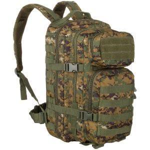 Mil-Tec MOLLE US Lille Assaultpakke - Digital Woodland